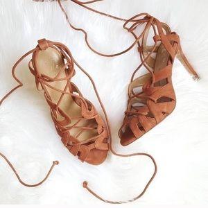 NIB Strappy Wrap Heels